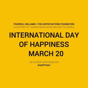 Use #HappyDay and upload your pics and videos to all your social media platforms!